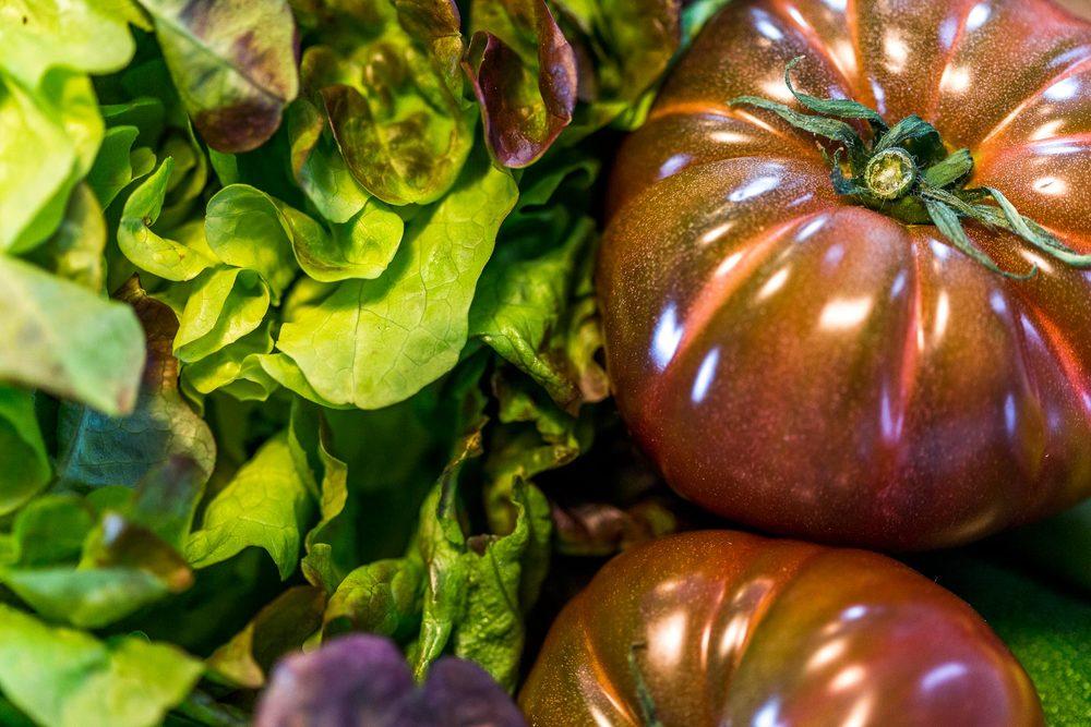 légumes du potager du Domaine d'Ablon Normandie
