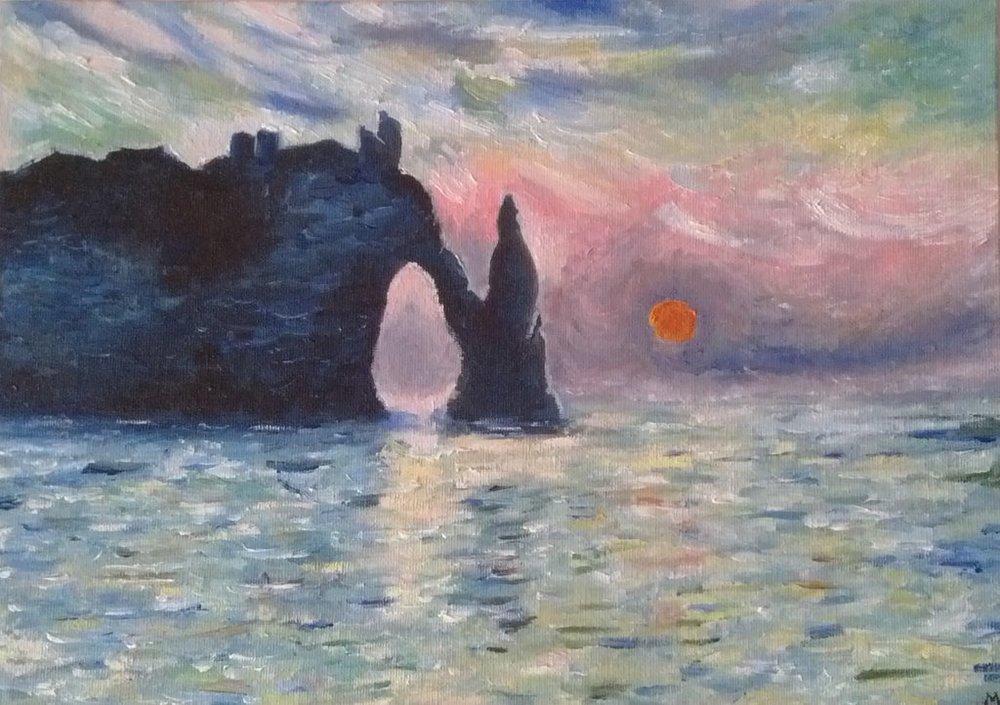 Les falaises d'Etretat Monet