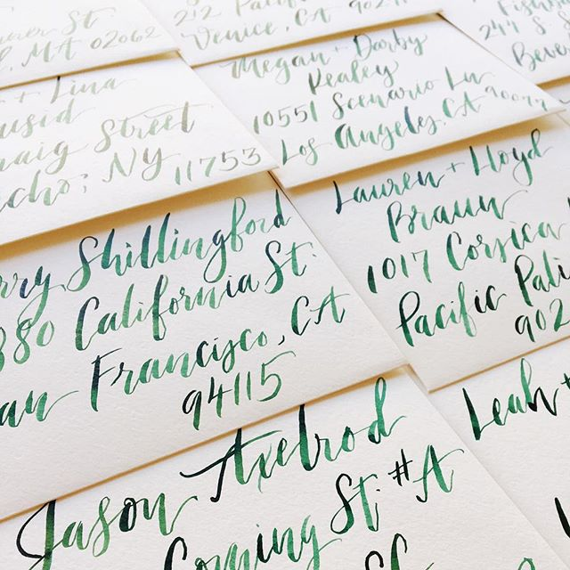 On their way to @underwoodletterpress for liners, then off to the lucky invitees of this #ojai wedding 🌿✉️