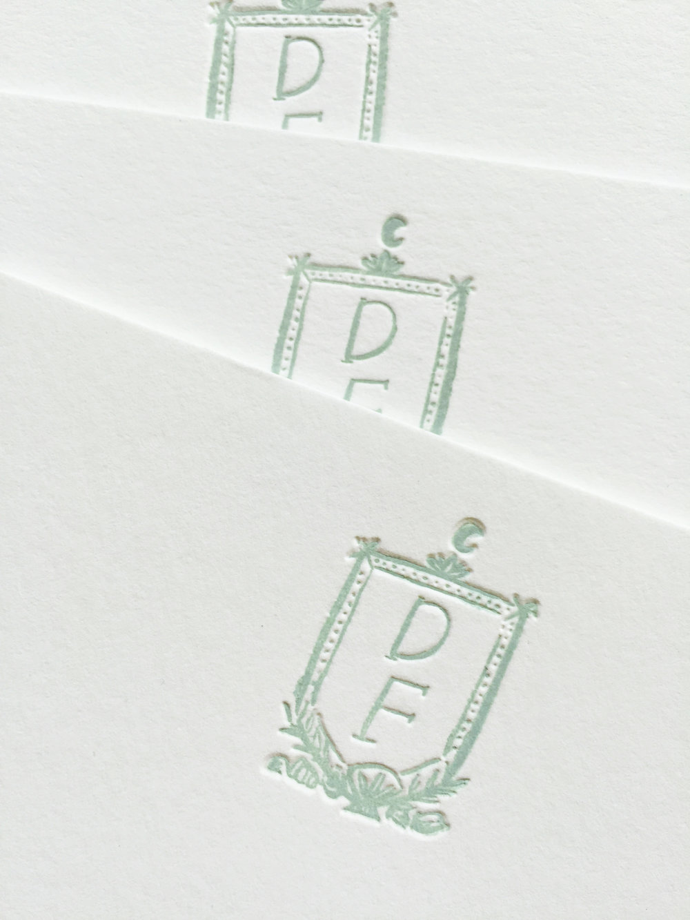 Bespoke stationery with illustrated crest