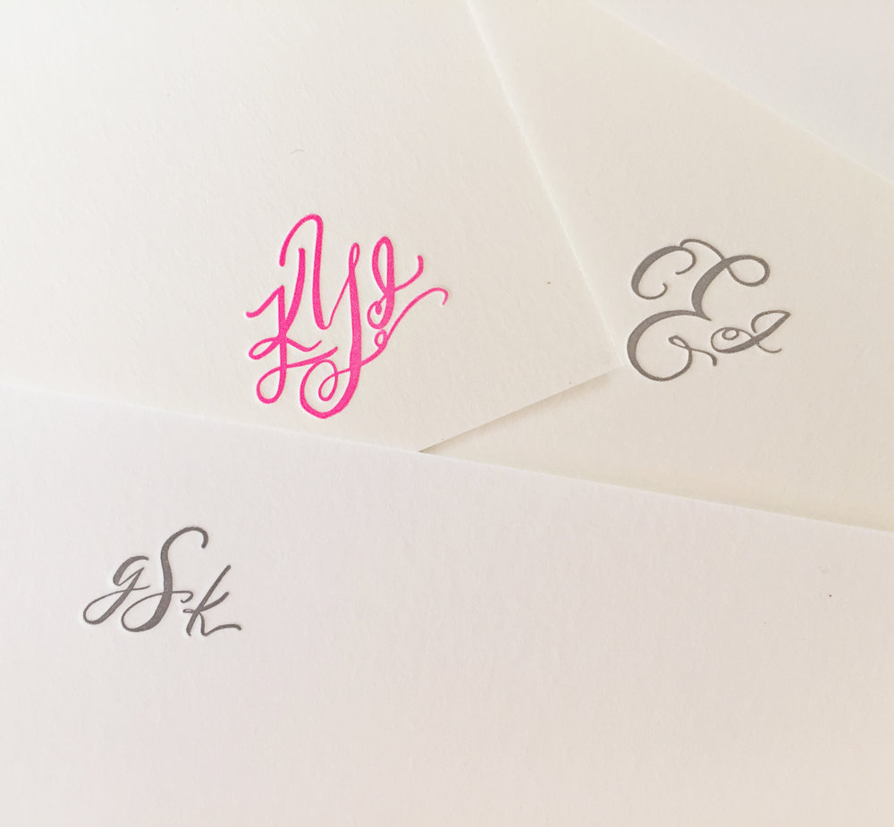 Bespoke block monograms