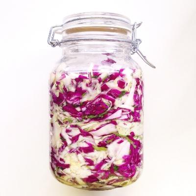raw fermented sauerkraut