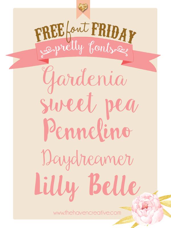 1.  Gardenia  2.  SweetPea  3.  Pennelino  4.  Daydreamer  5.  Lilly Belle