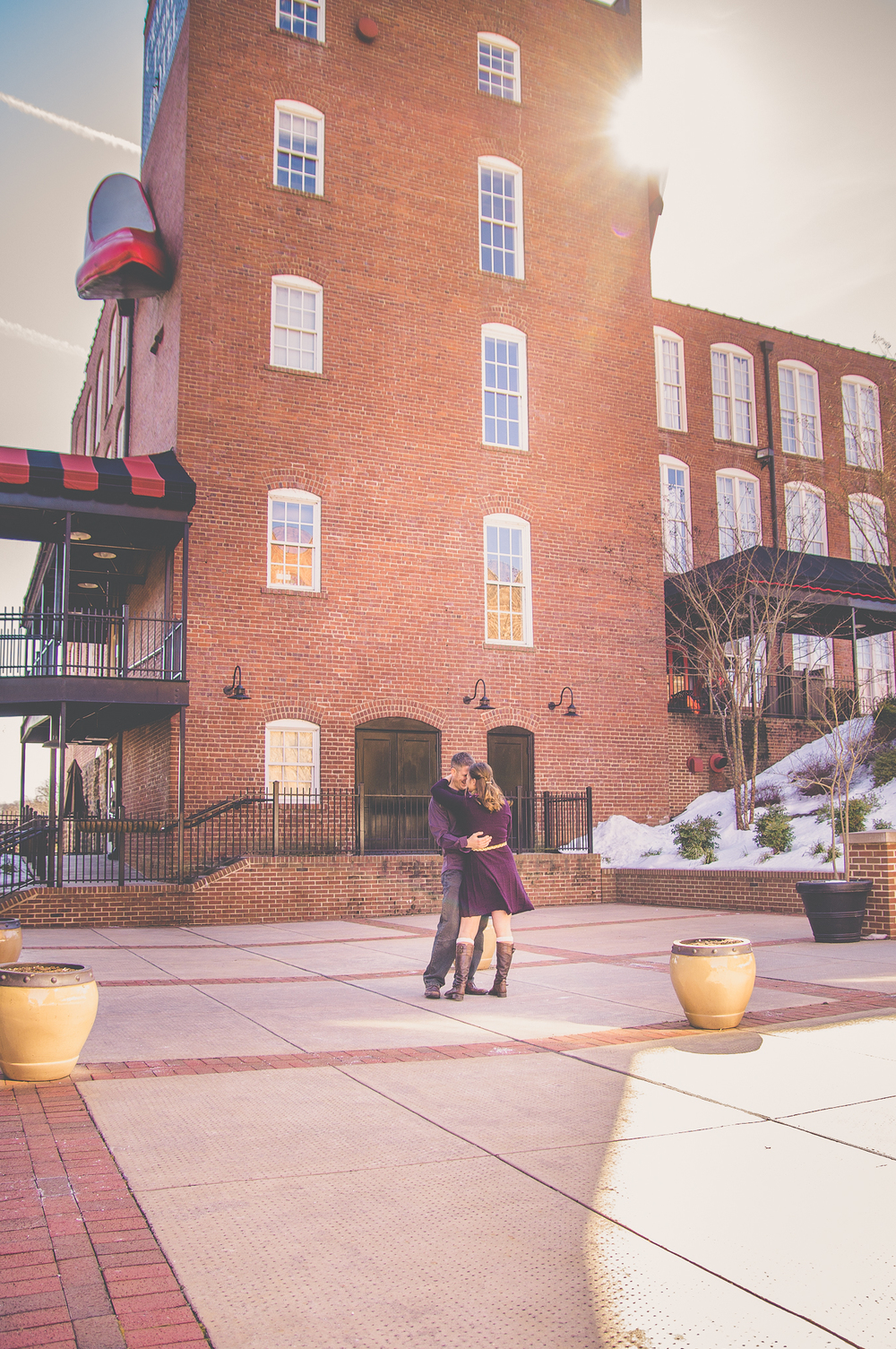 Lynchburg VA Engagement Session At Craddock Terry Hotel