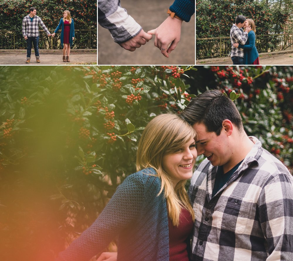 engagement session at randolph college in lynchburg, virginia
