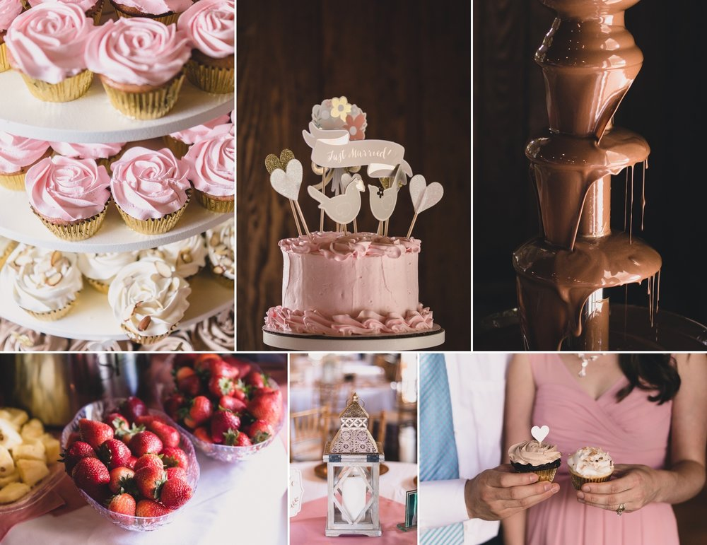 military wedding details in blush pink and navy at mead lake lodge in rustburg virginia by jonathan hannah photography