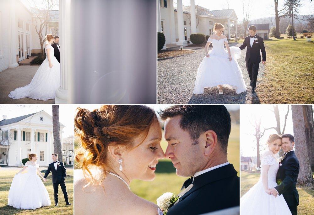 Scott and Brynn's Winter Estate Wedding at Whitehall Estate in Bluemont VA