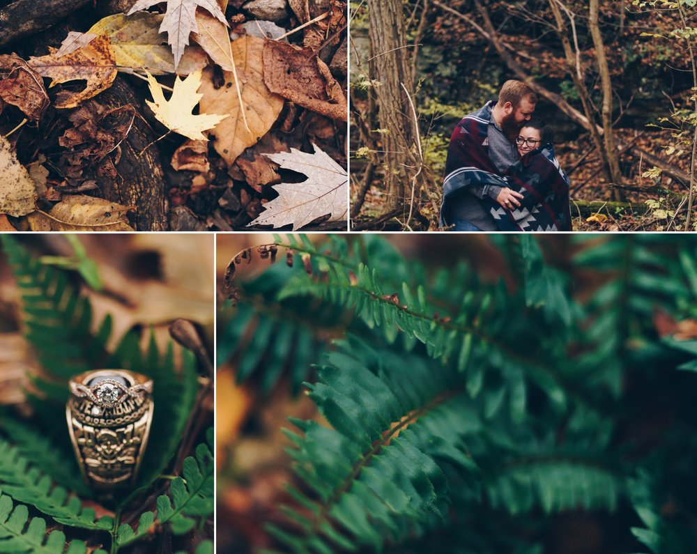 rustic engagement session blue ridge parkway peaks of otter lynchburg va by jonathan hannah photography