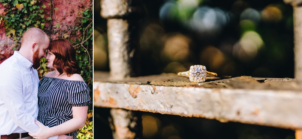 downtown lynchburg virginia engagement session by jonathan hannah photography