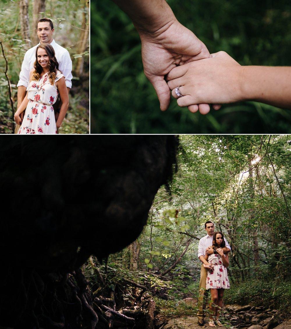 Lynchburg Virginia Wedding photographer Jonathan Hannah Photography waterfall engagement