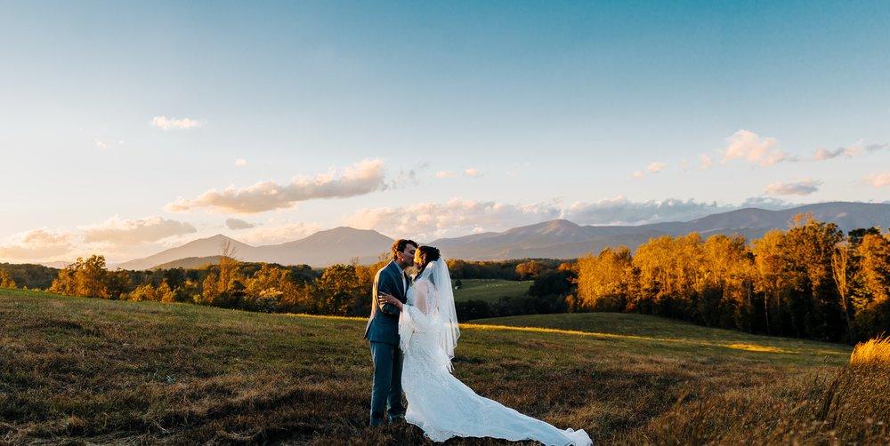 autumn blue ridge mountains wedding at sierra vista bedford virginia