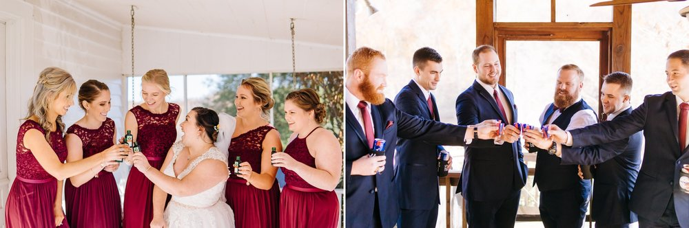 Bridal_party_taking_shots_before_ceremony_at_wolftrap_farms_by_jonathan_and_hannah_photography