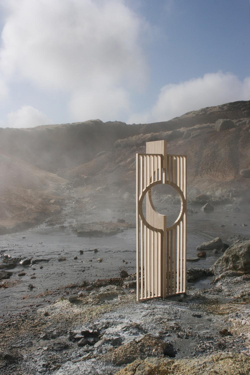 """2007 """"Lines"""" Krísuvík, Iceland."""