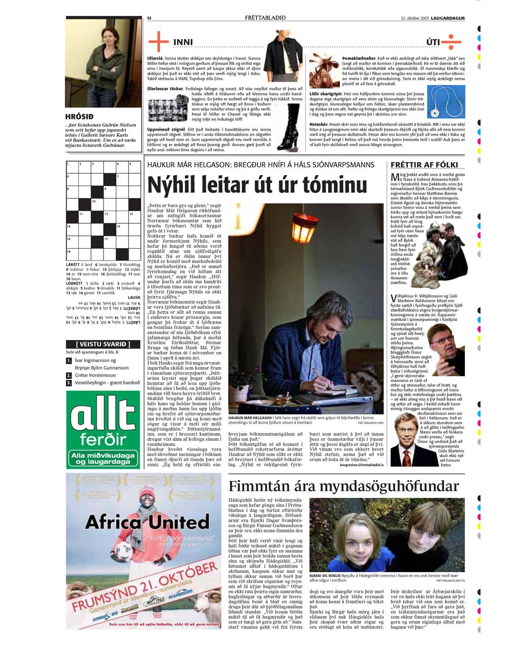 Hrósið Fréttablaðið 22.okt 2005 copy.jpg