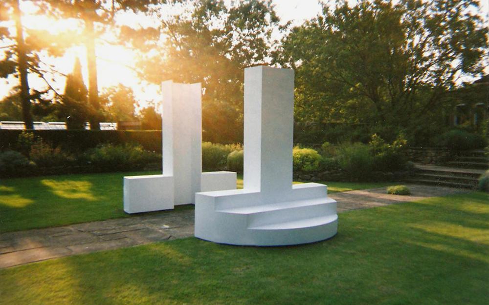 """2002 """"Echo"""" site specific, Harold Martin Botanic Garden, Leicester, England."""
