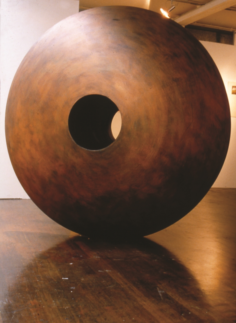 "1992 ""YoYo"" plaster, mettalic colours, graphite powder, gold leaf. Lifesize. Image Nick Morris"