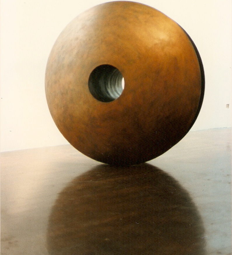 YoYo 1992 plaster, mettalic colours, graphite powder, gold leaf. Lifesize