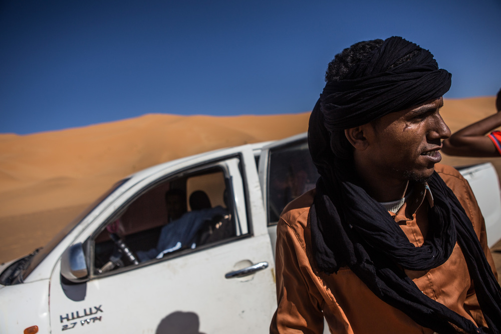 The Tuareg dominate travel through the extense Sahara dessert in the south west of Libya; many of the smuggling routes cross the dessert and reach the north.