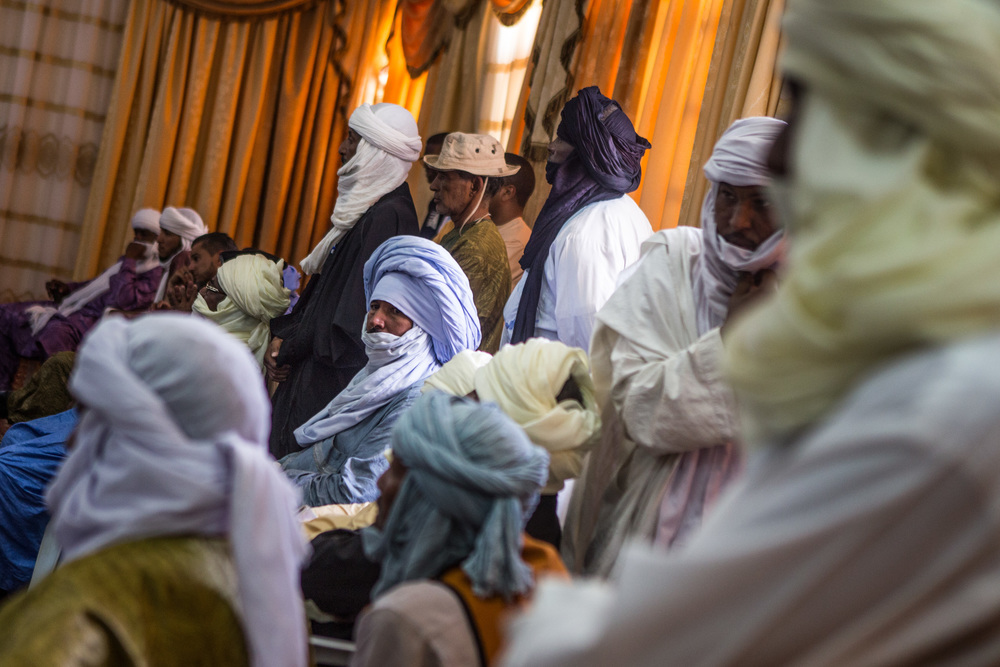 A group of Tuareg tribal elders are meeting in the city counsil of Ghat to address different issues of the town and Ubari.