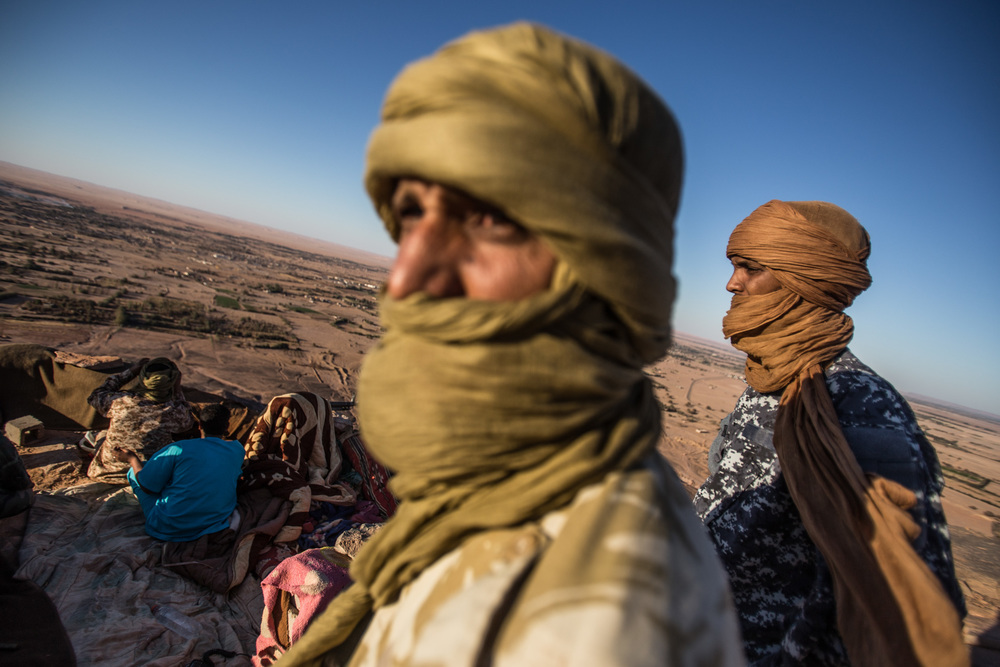 Tuareg forces control the mountain since the fighting began in September 2014.The town is near the Sharara oil field one of the biggest in Libya.