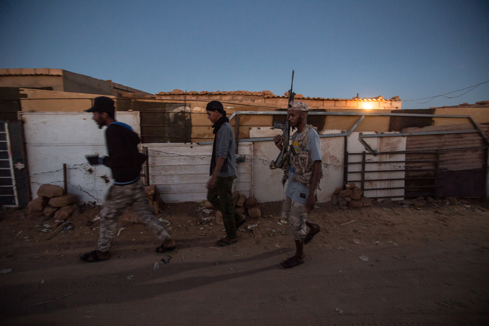 Campo is one of the neighborhoods of Ubari that is controlled by young tuareg fighters.