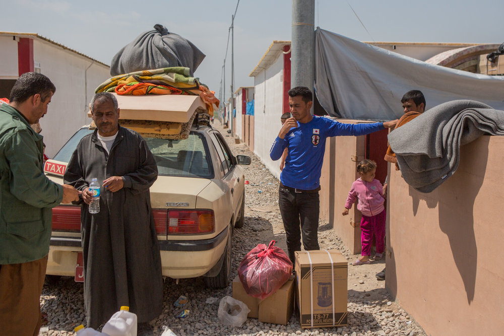 After the people that arrive to the camp are cleared from the KRG authorities, many begin journeys to new locations south of the KRG, many choose to go to Kirkurk.