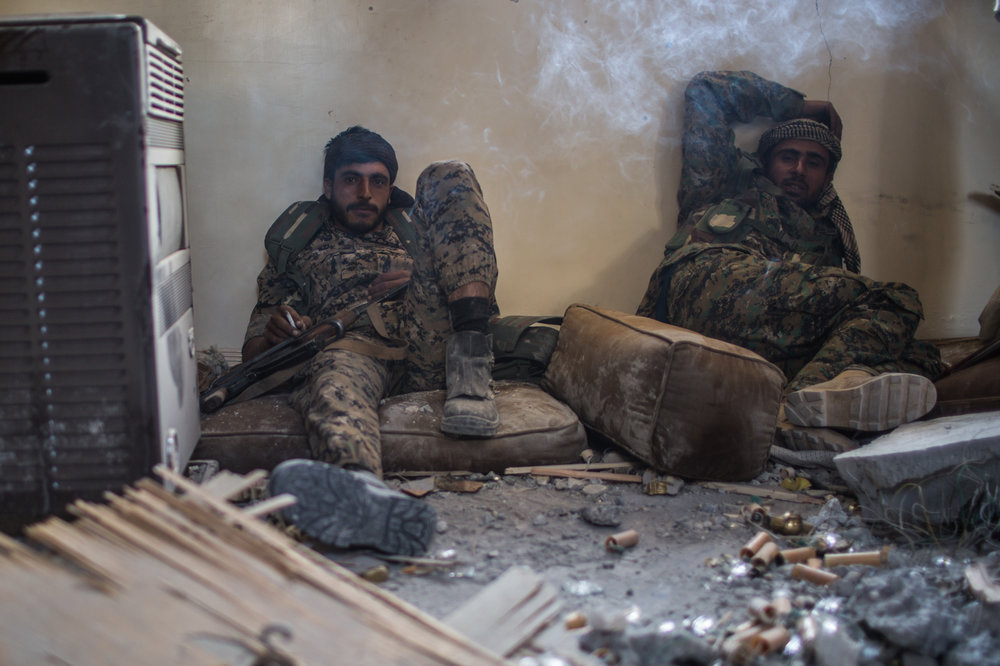 Some SDF commanders say they have a lack of men and that fighters are exhausted after months of fighting.