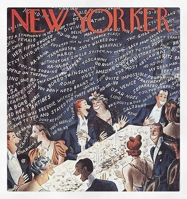 So many reasons to celebrate this weekend. Let's party like it's 1939! (Thank you to both @pasqualecasullo and @disraeli81 for bringing this incredible cover to my attention.) #cocktailhour #1939 #newyorker #fridayfete