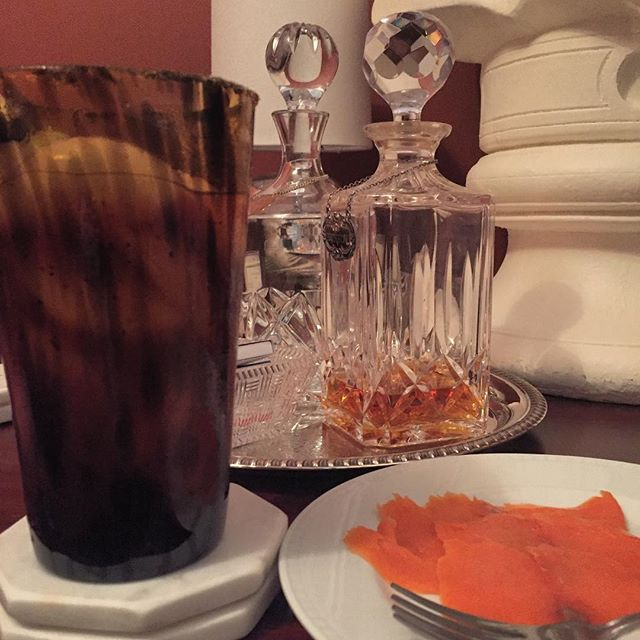 A Bloody Mary, some smoked salmon and some smoked salmon.  #fletch #boozysnack