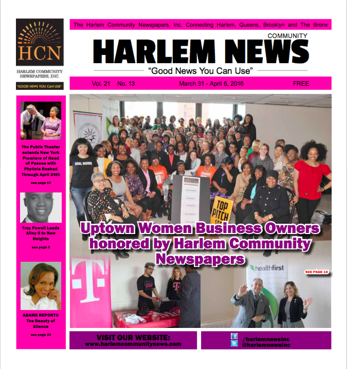 Women Business Owners such as La Maison d'Art owner, Stéphanie Calla, honored by Harlem Community Newspapers!