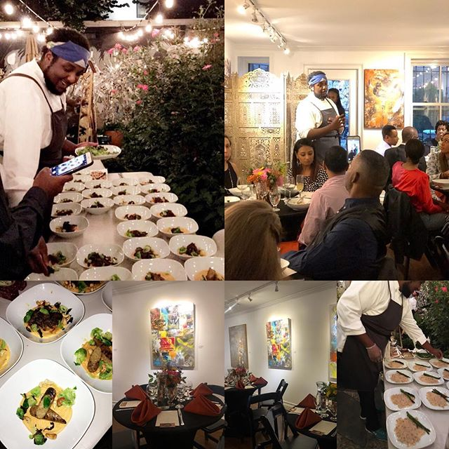 Great private dinner @lamaisondartny by @touchefcoupet celebrating a birthday and a surprise proposal! What an original way to host your private dinners surrounded by art from talented local artists like @lanceljart - great mood, intimate setting and sophisticated spot. Contact us at 718-593-4108 for your events.  #artgallery #privatechef #eventspace #bookyourevent #harlemgems #harlemartist #culinary