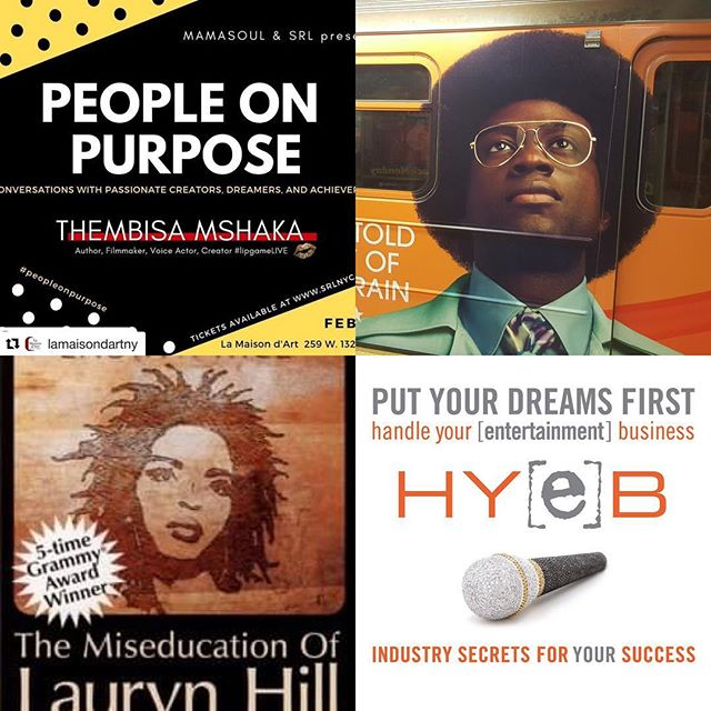 "PEOPLE ON PURPOSE conversation series By @mamasoulnyc with  THEMBISA MSHAKA! (@officiallipgame ) Sat. Feb 16, 4-6PM conversation / SoulTrain Party (6-9PM) INSPIRATION  CONNECTION  INFORMATION  PEOPLE ON PURPOSE conversation series  Join SRL and founder MamaSoul in conversation with creative, solopreneur, author, mother and overall boss who is living and working on purpose, THEMBISA MSHAKA!  Award winning advertising writer (BET Networks, ""American Soul: Untold Story of Soul Train"", ""Black Girls Rock"" BET Awards; SONY Music Entertainment, ""Miseducation of Lauryn Hill"" album), author (Put Your Dream First: Handle Your [Entertainment] Business), filmmaker (Skateboard, Skateboard), and voice actor (""I Am Ali"", Muhammad Ali Center). To close out the evening...a PEOPLE ON PURPOSE Soul Train dance party! It all begins after the talk concludes.  PEOPLE ON PURPOSE returns to La Maison d' Art, Saturday, Feb. 16, 4-6p.  POP Bites and beverages will be available for purchase. Tickets are available at www.srlnyc.com/events."