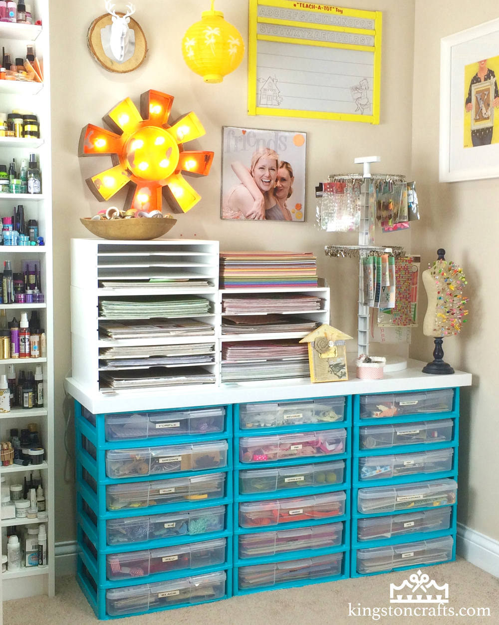 DIY | Customize Your Plastic Storage Drawers