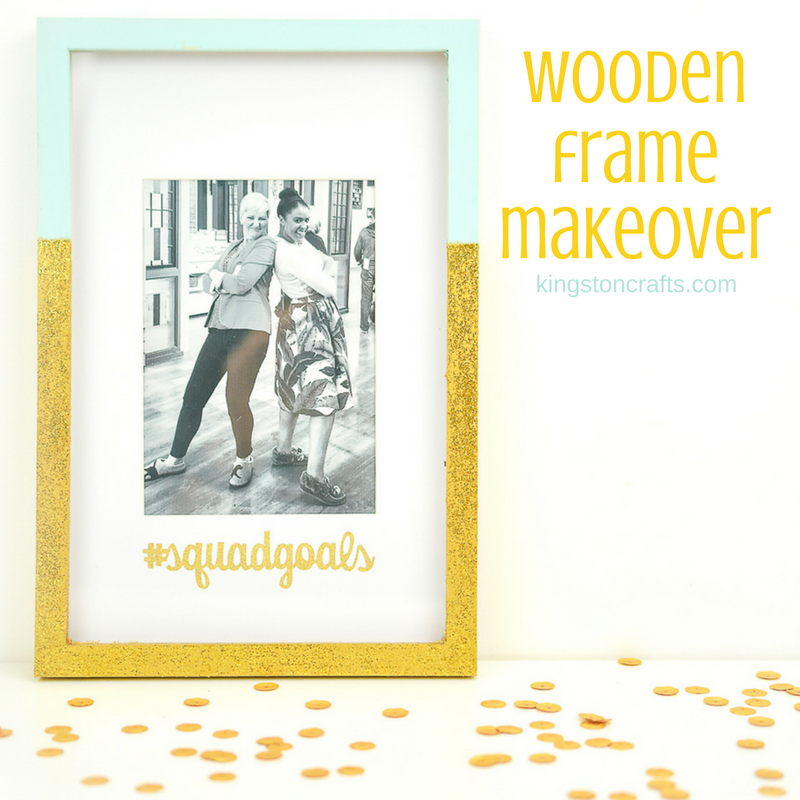 Wooden Frame Makeover with Plaid Crafts and Cricut