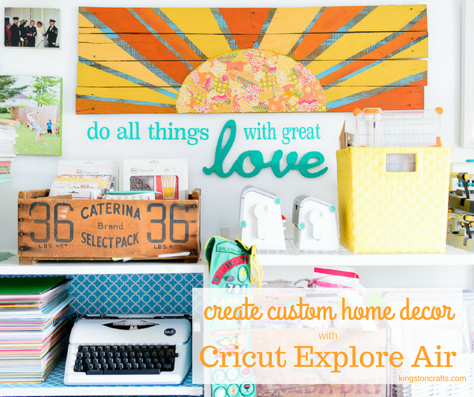 Wood Words + Cricut Explore Air = Custom Wall Art