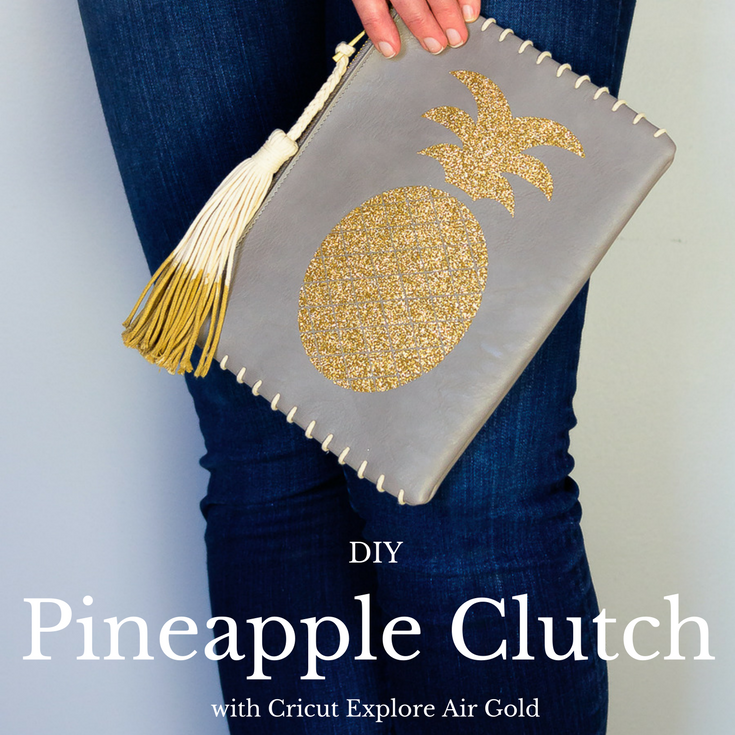 DIY Glitter Pineapple Clutch
