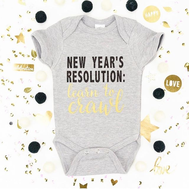 This weekend Don is meeting our newest niece for the very first time, and I can't wait to get this onesie on her! 😍👶🏻Made it with my #cricut and my #cricuteasypress in less than 10 minutes. Can't think of a better way to ring in the new year than with a new baby!🍼🎉 . . We want to see what you are creating this holiday week! 🎉Tag your holiday creations with #deckthehallswithDIY and follow the hostesses for a chance to win this week's prize from @beddysbeds . We can't wait to be inspired! ⛄️ #giftforbaby #newyear2019 #cricutproject #cricutcreations