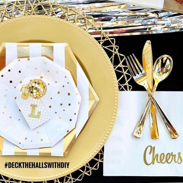 Happy New Years Eve 🎊! The #DeckTheHallsWithDIY hosts have enjoyed all of your fabulous holiday projects 😍🙌🏻 But wait , we are not done! Our winner this week is Lori from @pop_of_gold with her adorable embossed napkins and NYE tablescape 🥂 Congrats Lori, you've also won this week's prize of $50 shop credit to @beddysbeds! . . We have one last week and it's another fun one! You can play along this week by sharing your holiday DIY decor, parties, treats, and crafts! No weekly themes, simply share your creativity for a chance of this week's prize: a $100 Target gift card courtesy of your hosts!  Here's how to participate: . 1️⃣ Follow all hostess accounts (a must to be eligible for the prize) ⭐️Beth @kingstoncrafts ⭐️Holly @legallycraftyblog ⭐️Katie @tulsadetails ⭐️Laura @destrophoto ⭐️Lexy @lexycakedesigns ⭐️Mariah @giggles_galore ⭐️Meghan @elvamdesign ⭐️Michelle @michellespartyplanit ⭐️Paula @frogprincepaperie ⭐️Susan @tablefor5please . 2️⃣ Tag your photos today through Friday 1/4 using the tag #DeckTheHallsWithDIY. 🥂 We will feature a winner on all 10 hostess accounts PLUS you'll win this week's prize! . 📷 by @pop_of_gold . #crafts #diy #nye #holiday  #decorhashtagfeed