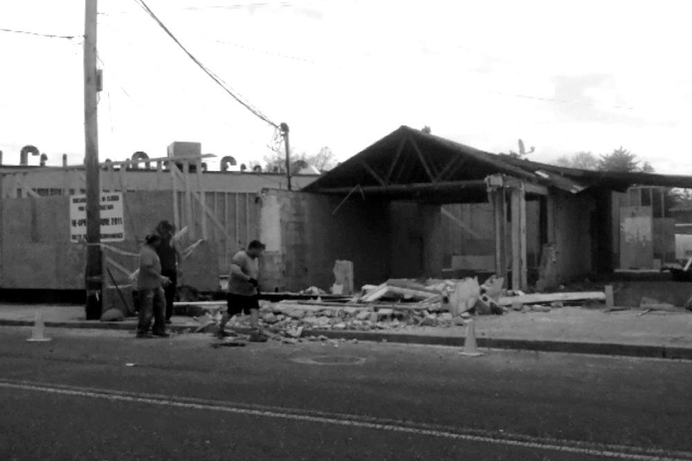 Macaroni's building under construction, 2011