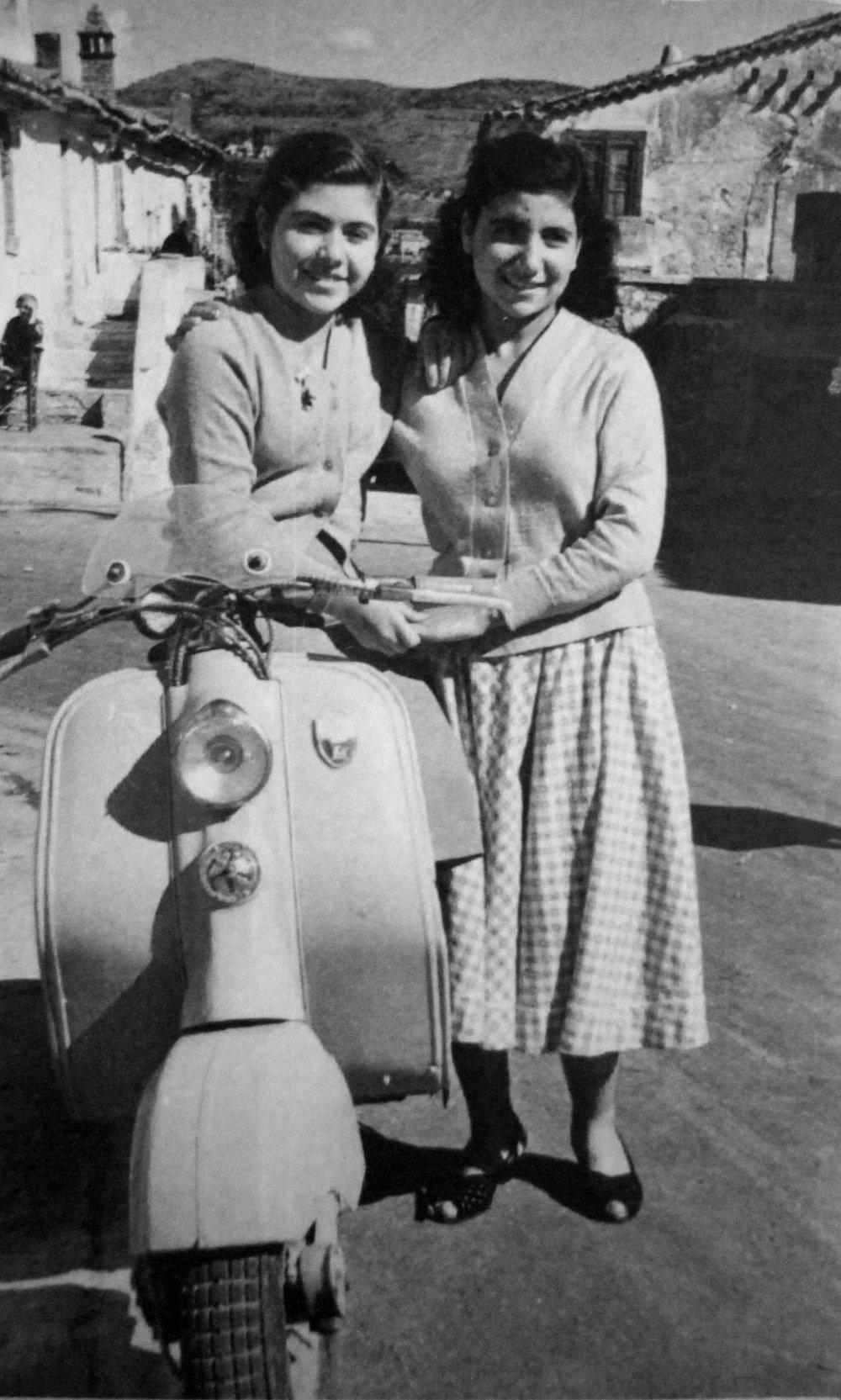 Giovanna (left) Avelino, Italy 1957