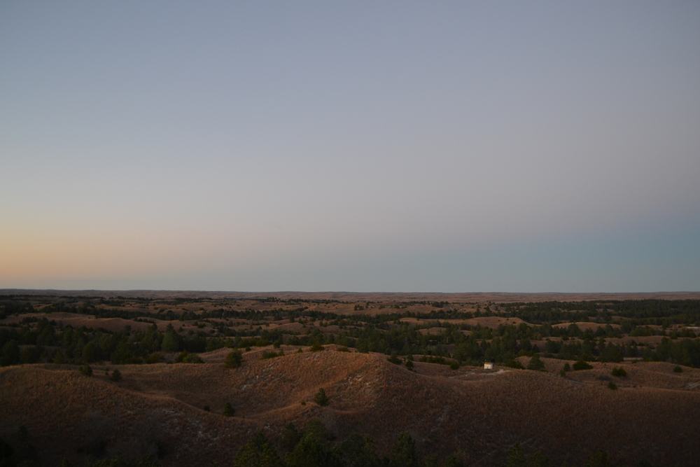 The Nebraska Sandhills at dusk. Part I.