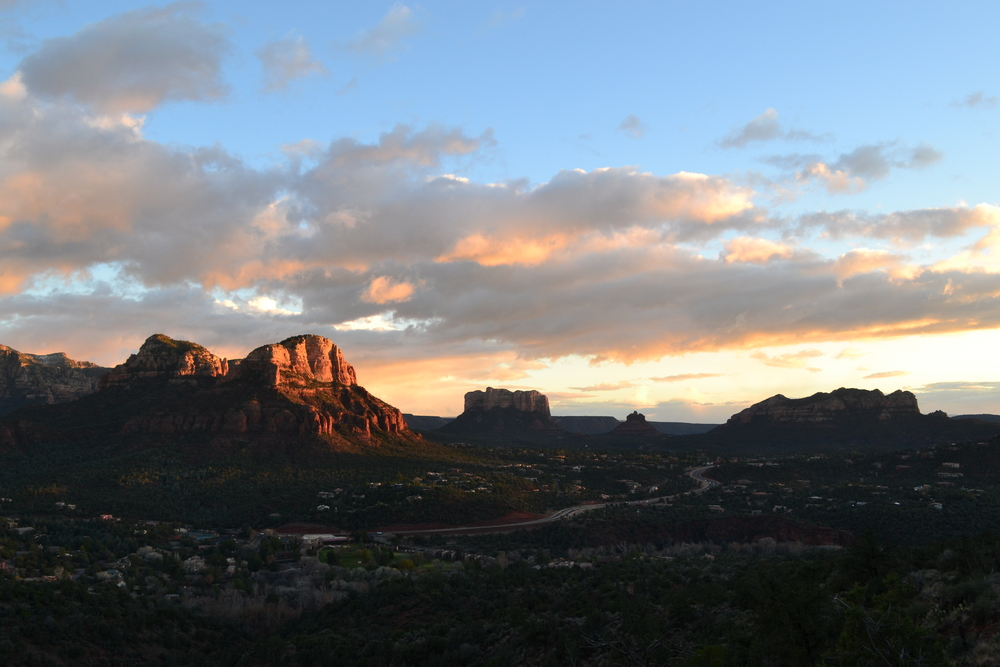 View from atop the Airport Mesa Vortex in Sedona, AZ.