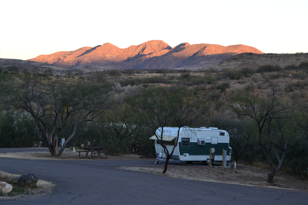 Elsie settled in at Patagonia Lake State Park in southern Arizona.