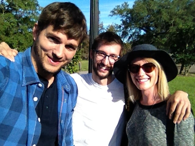 Ashton Kutcher took pity on us. Decided to throw a couple of Nebraskans a bone while we were visiting New Orleans.