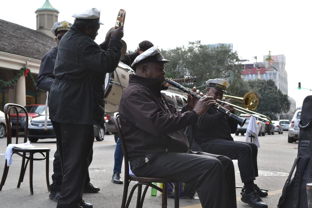 NOLA street band.
