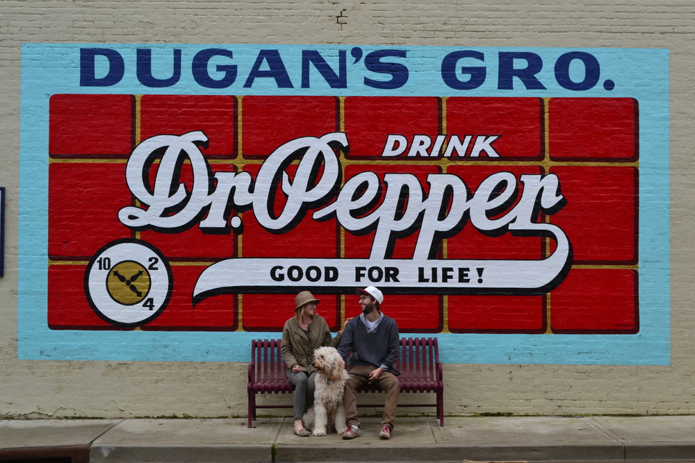 Dr. Pepper sign found in McMinnville, TN. Mel and Carson most definitely do not want a sponsorship from DR. PEPPER, but if they were interested...