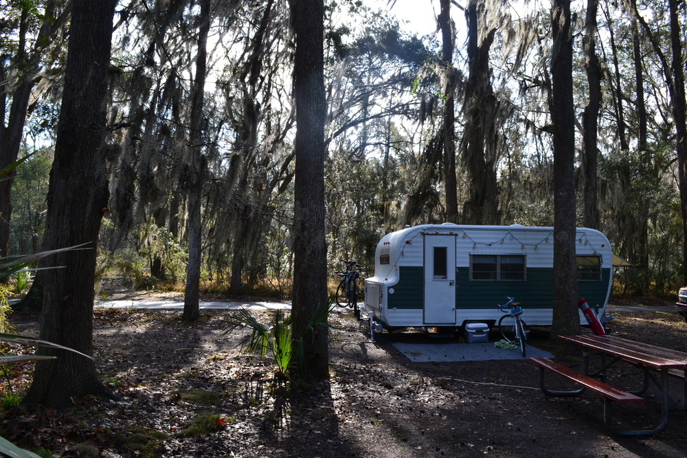 Our spot among the Spanish Moss at Skidaway Island State Park.