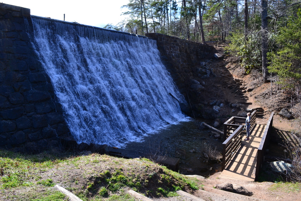 The spillway at Paris Mountain.