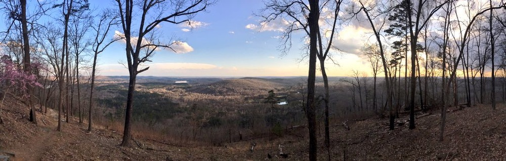Panorama from the top of Morrow Mountain.