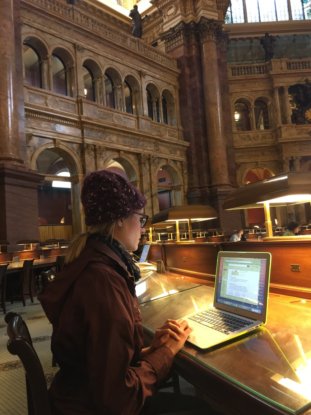 Mel at the Library of Congress, Jefferson Reading Room.